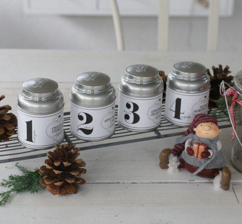 Advents te - pakke med 4 forskellige te med adventstal