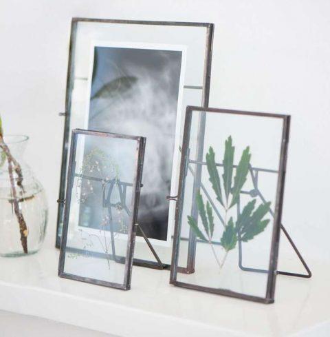 Fotoramme med glas - stor