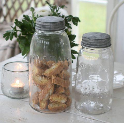 Fransk opbevaringsglas med låg, lille