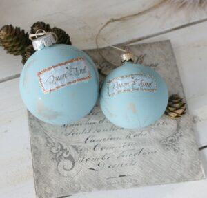 julekugle med klkmaling