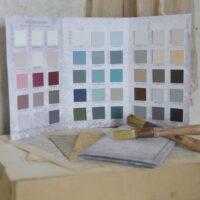 Farvekort med 51 farver fra Vintage Paint
