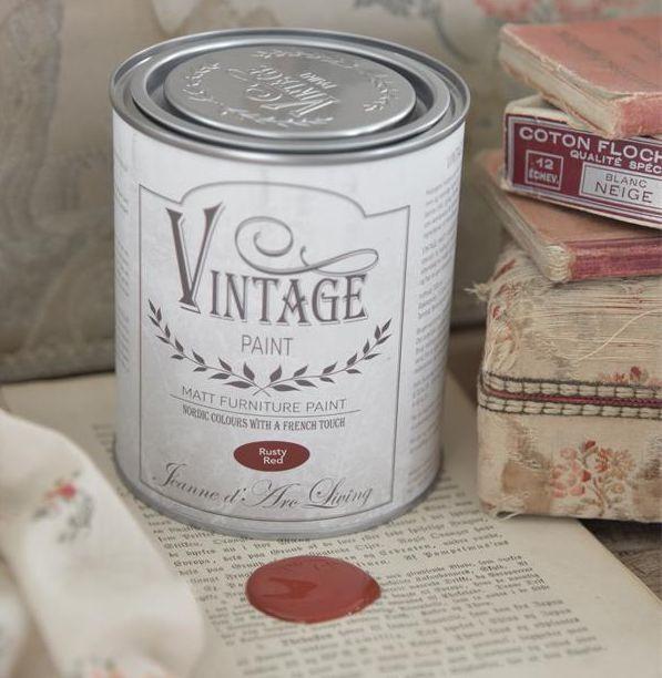 Kalkmaling Vintage red 100 ml.