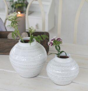 Vase Agra i hvid, lille