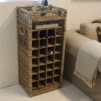 Vinholder - Rustic Rattan Wine Rack BESTILLINGSVARER