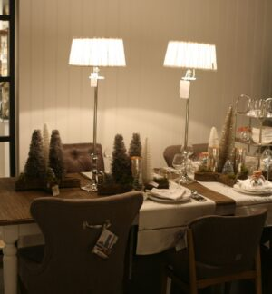Høj Lampefod i sølv -  Lampbase L'Hotel Large