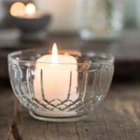 Lille glasskål med riller