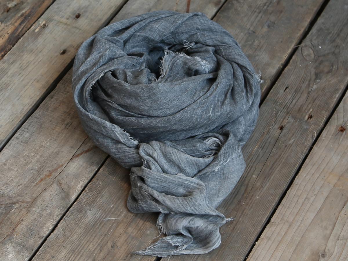 Tørklæde med revne kanter - antique grå