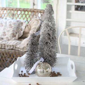 Juletræ med sne, str L