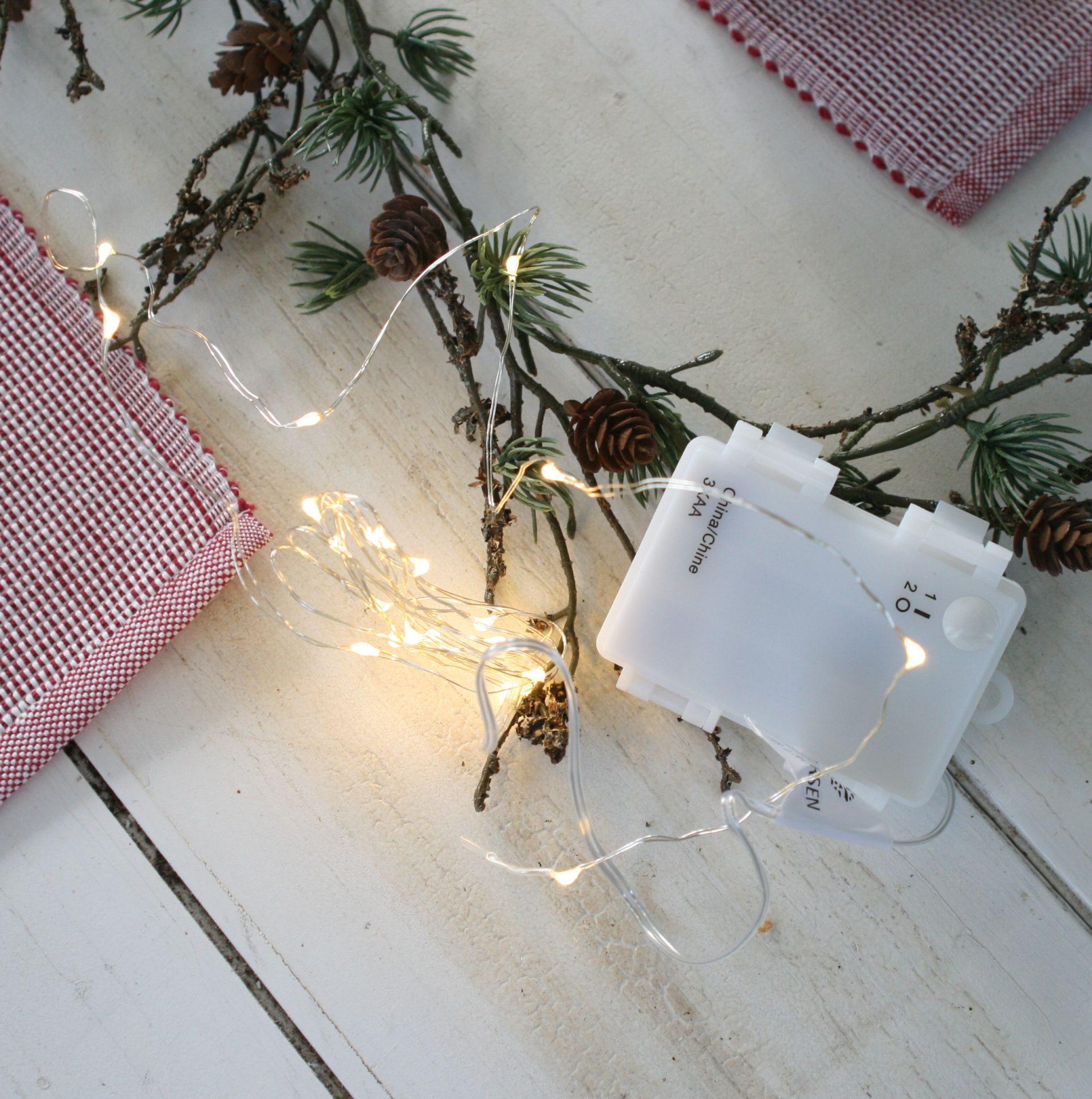 Lyskæde med 40 LED lys udendørs