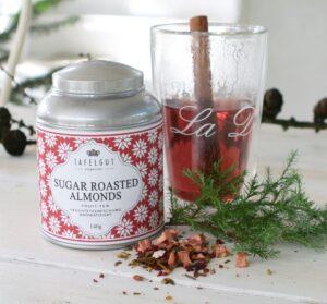 Tafelgut Julete - Sukker ristede mandel te m. hindbær