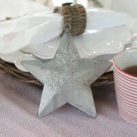 Zink Stjerne med snekrystaller