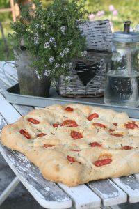 Foccacia Brød med tomat og rosmarin
