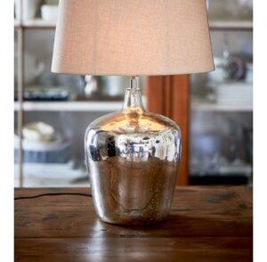 Stor lampefod i sølv - Malaga lamp base, M