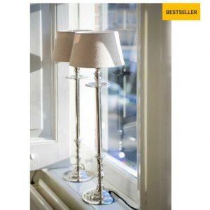 Sølv lampefod - Lampbase L´Hotel