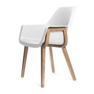 Spisebordsstol - Amsterdam City Dining Armchair, pure white BESTILLINGSVARER