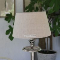 Lampeskærm - Brianna Stone Washed Lampshade beige 15x20