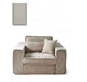 Lænestol – Metropolis Love Seat, washed cotton, ash grey BESTILLINGSVARER