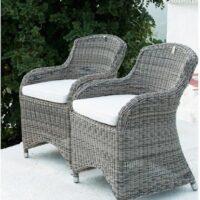 Havestol - Rustic Outdoor RattanClub Chair 1 STK PÅ LAGER udstillingsmodel