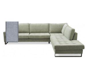 Sofa – West Houston Corner Sofa Chaise Longue Right, cotton, ice blue BESTILLINGSVARER
