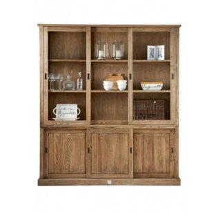 Vitrineskab - Blue Hills Cabinet, 3 doors BESTILLINGSVARER