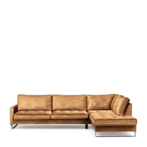Sofa – West Houston Corner Sofa Chaise Longue Right, velvet BESTILLINGSVARER