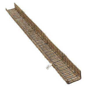 Gallerihylde - Rustic Rattan Wall Decoration Shelf 115 cm