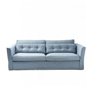 Sofa - South Wimbledon Sofa 3,5 Seater, washed cotton, ice blue BESTILLINGSVARER