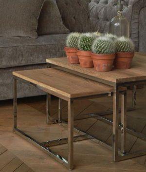 Sofabord - Monaco Square Coffee Table 70x70 Set of 3 BESTILLINGSVARER