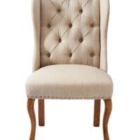 Spisebordsstol - Keith II Dining Wing Chair, linen, flax BESTILLINGSVARER