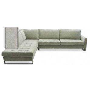 Sofa – West Houston Corner Sofa Chaise Longue Left, cotton, Ashgery grey BESTILLINGSVARER