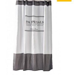 Badeforhæng - Spa Specials Shower Curtain 180x200 grey UDSOLGT, KOMMER IGEN