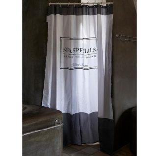 Badeforhæng - Spa Specials Shower Curtain 180x200 grey