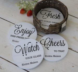 Glasbrikker - Enjoy Cheers Coasters UDSOLGT