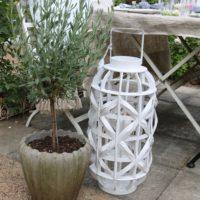 Hvid lanterne - Summer Shell Lantern M