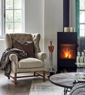 Lænestol - Franklin Park Wing Chair, linen, flax BESTILLINGSVARER