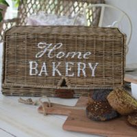 Rustic Rattan Home Bakery Bread Box