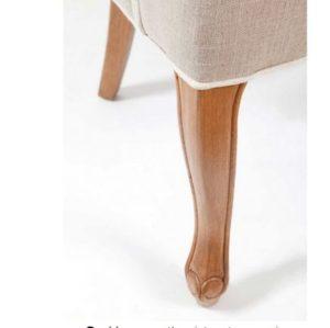 Spisebordsstol - George Dining Chair, linen flax BESTILLINGSVARER