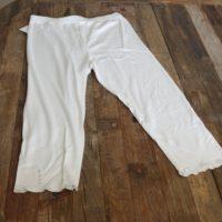 2 stk. hvide leggings m. sten str S.