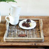 Bakke - Rustic Rattan Morning Tray 30x30 KOMMER SNART
