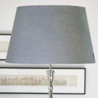Grå lampeskærm - Classic Natural Linen Lampshade grey 55x34