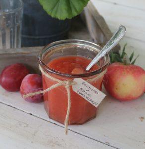 Æble og blomme marmelade - Opskrift nem og lækkert
