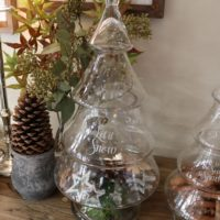 Glas juletræ- Let It Snow Glass Christmas Tree L