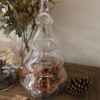 Glas juletræ- Let It Snow Glass Christmas Tree M