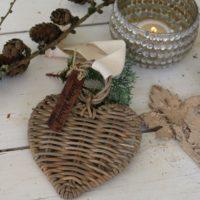 Rattan hjerte - RR Christmas Hanger Heart