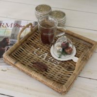Bakke - Rustic Rattan Morning Tray 30x30