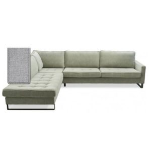 Sofa - West Houston Corner Sofa Chaise Longue Right, velvet, platinum BESTILLINGSVARER
