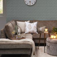 Sofa – West Houston Corner Sofa Chaise Longue Left, velvet, Clay, BESTILLINGSVARER