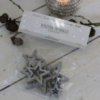 Sølv stjerner - Winter Sparkle Stars 8 stk.