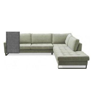 Sofa – West Houston Corner Sofa Chaise Longue Right, cotton, Grey BESTILLINGSVARER