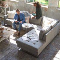 Sofa – West Houston Corner Sofa Chaise Longue Right, cotton, Stone BESTILLINGSVARER